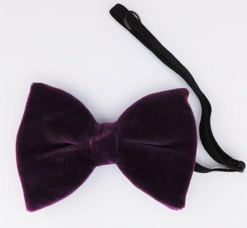 Strange purple velvet bow tie collar NEW SECONDS several available